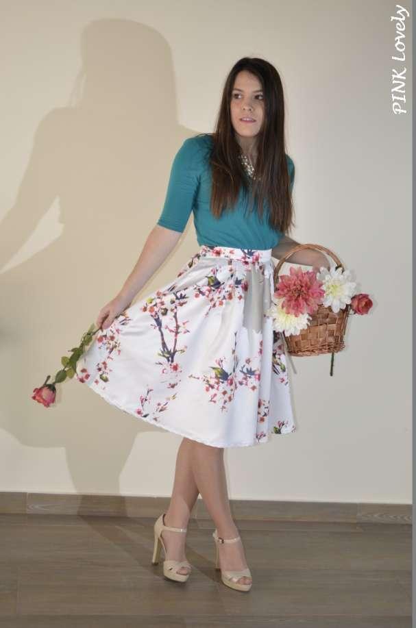 4cc1d90ce Falda Larga Estilo Velvet - Pink Lovely