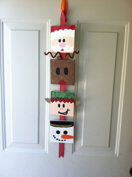 50 Christmas Door Decoration Ideas Pink Lover