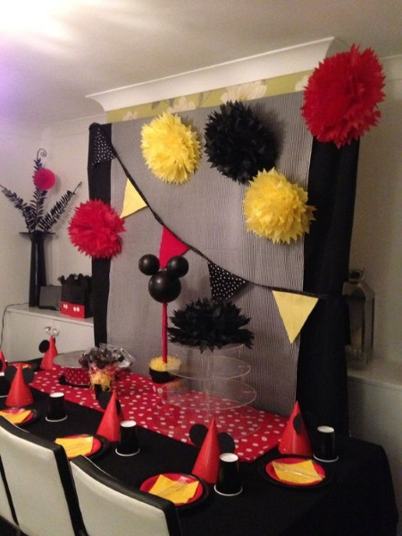 Mickey Mouse Diy Birthday Party Backdrops Pink Lover
