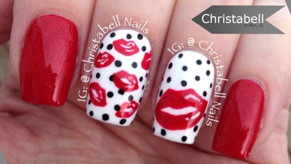 Valentines Kiss Nail Designs Image Source