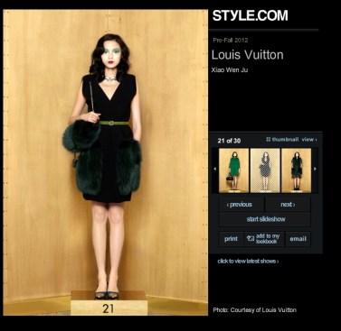 Louis Vuitton Pre-Fall 2012 21 Xiao Wen Ju