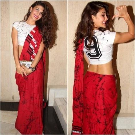Kerala Saree with jersey blouse