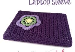 Crochet V-Stitch Laptop Sleeve