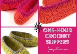 One-Hour Crochet Slippers