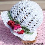 Shell Stitch Cotton Hat with
