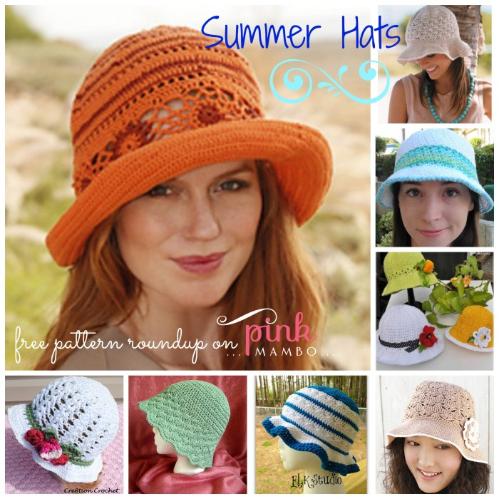 Summer Hats Collage
