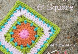 Bullseye 6″ Crochet Square