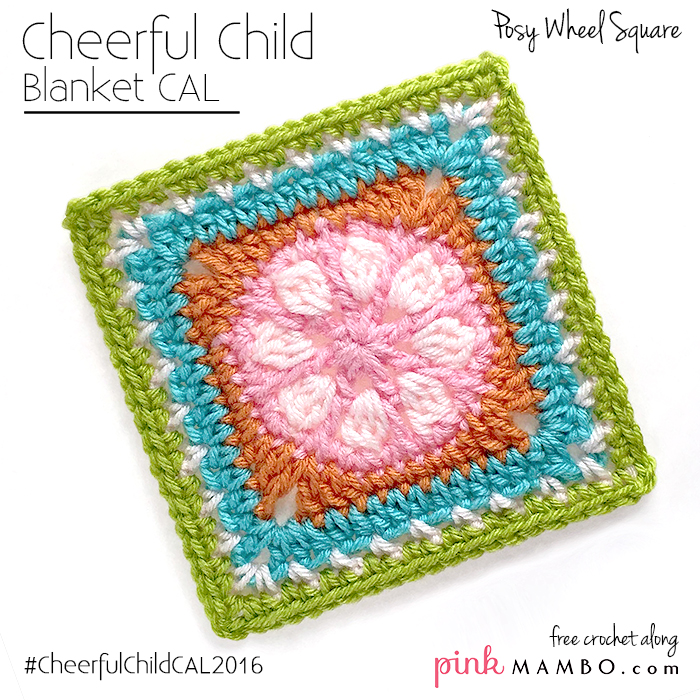 "Posy Wheel 6"" Crochet Square"