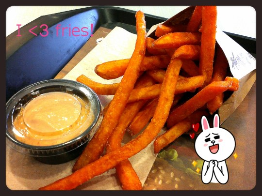 A&W sweet potato fries