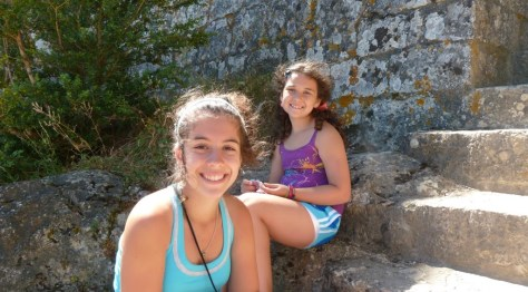 Taking a break at Peyrepertuse