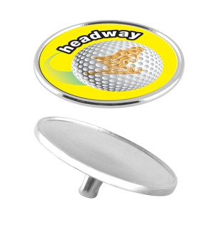 Golf Markers - Chrome Ball Marker with Spike