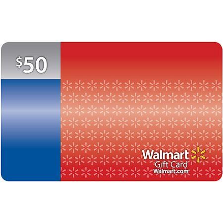 $50 Walmart Gift Card