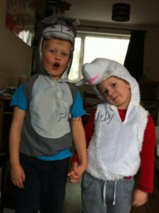 Children Dressed up for Nativity Story
