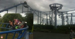 See how I hold on for dear life, whilst my brave 5 year old keeps his hands in the air!
