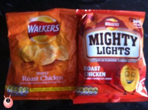 Walkers Mighty Lights - 30% less fat same great taste, Review @pinkoddy