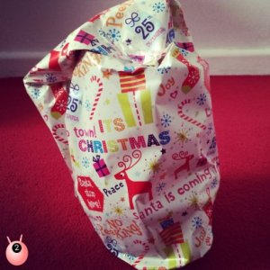 Wrapping difficult shaped Christmas presents
