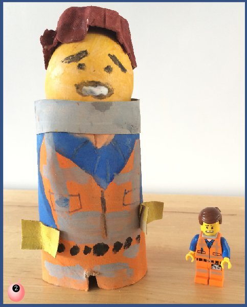 Lego Emmett egg decorating