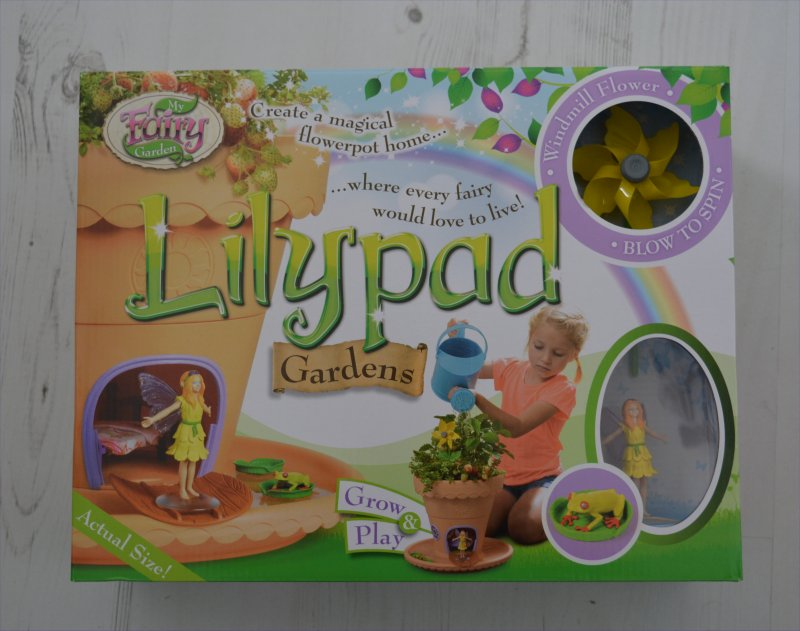 Spring is the time of year when children are more easily persuaded outside and get them thinking about new life. Whilst outside children can learn a lot through play and develop their morals and values - such as being caring for the environment. I am keen to help my children develop a loving, caring personality by providing opportunities to do so with toys can such as Interplay's My Fairy Garden® Interplay's My Fairy Garden®: Lilypad Gardens Interplay's My Fairy Garden: Lilypad Gardens was the proud winner of the BTHA London Toy Fair 2016 Best New Toy Award, in the Creative Category. This product is great for child development - allowing children to grow and look after their own garden whilst learning about nature. The Fairy allows children to use their imaginations as well as provide someone to tell their worries to. Interplay's My Fairy Garden®: Lilypad Gardens Contains: • 3 part Flowerpot House (Saucer, House & Flowerpot) • Fairy Figure - Lily the Summer Fairy. She loves flowers and nature and greeting the sun on a bright summer's morning. • Frog Figure • 3 x floating Lilypads • Sunflower Windmill • Packet of Grass Seeds • Instructions/Colour Activity Book My thoughts on Interplay's My Fairy Garden®: Lilypad Gardens The My Fairy Garden®: Lilypad Gardens is a lovely addition to our home. It was simple to open, with minimal packaging which was all fully recyclable. There are clear visual instructions on how to assemble the Fairy Garden in the colour instruction booklet. The Lilypad Gardens has a clever design whereby if it rains (or a child over waters it) the water will drain out of the pot into the moat without effecting Fairy Lily's home. The top half of the pot can be removed to play inside the fairy home, without disturbing what is growing. There is also a very sweet fairy door so that Lily can go in and out without having to life the lid. We planted herbs in ours and I like the idea that it may encourage children to eat better because they can grow their own inside the pot. Of course this is where the creativity begins as children can decide whether they want to plant herbs, fruit/vegetables, flowers, or grow grass - and have it as a roof top garden. I feel that the Lilypad Gardens is a nice sized pot for children to manage - big enough to grow and/or play in and maintain, plus not too heavy to remove. The booklet also explains which plants are particularly good for the Fairy Garden, and how to grow from seeds. There are also grass seeds provided and how best to help them grow, and maintain. This would be ideal if you were making a Roof Top Garden for Lily. I was very happy with the product and the only thoughts of how the product could be improved are with the packaging and contents: The packaging shows various images of girls playing with the product which may be interpreted as not being suitable for girls - I would in future like to see boys on the box - and even a boy fairy, to encourage this kind of play for both sexes. I would like to see sets come with a trowel for planting, maybe even some gloves and a watering jug can - so that all you need to get is the soil, I can however see how it comes without to keep costs down and that children may already have these things. There is so much scope for creative play with the My Fairy Garden®: Lilypad Gardens and the booklet sparks off children's imaginations, with suggestions on how to make garden furniture and how to design the interior of the Fairy home. The product is suitable for indoors and outdoors - making it a toy accessible for all to use and encourage gardening in a small space. I received a free Interplay's My Fairy Garden®: Lilypad Gardens for purposes of review. Words and opinions are honest and my own.