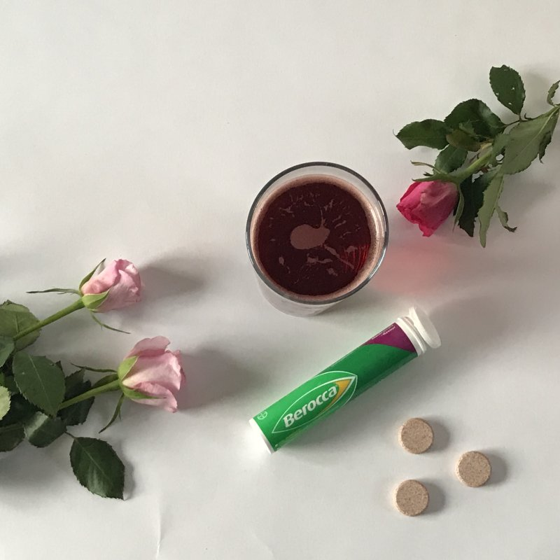 berocca blackcurrant and roses