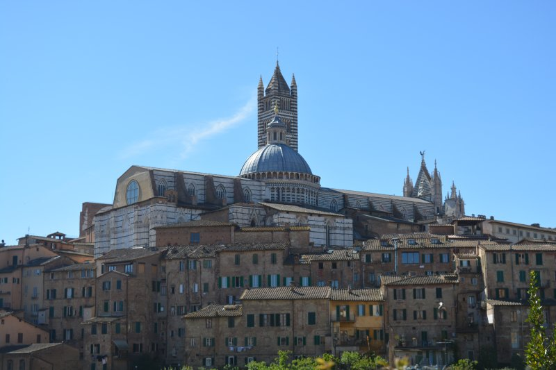 Siena in Tuscany Italy the view
