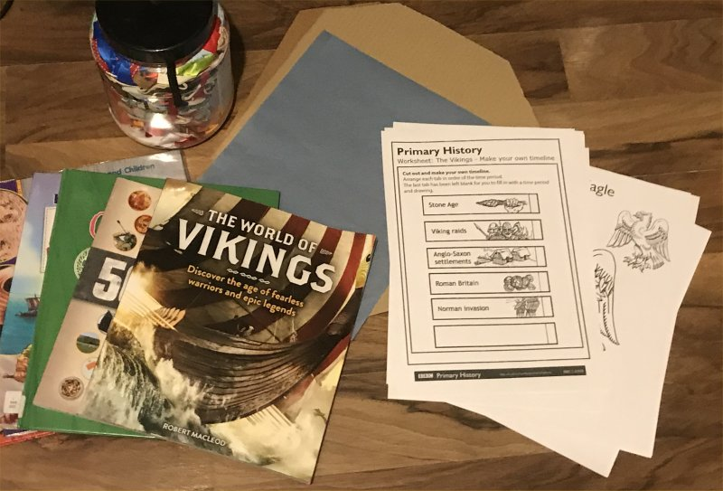 Vikings home education books and materials