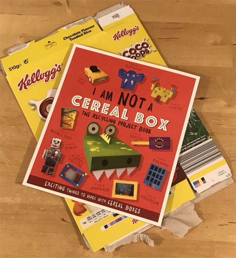 recycling cereal box craft book