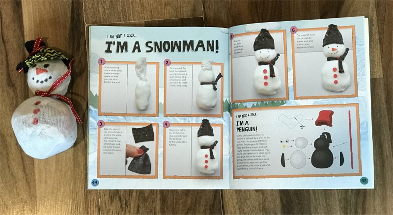 how to make a snowman from a sock