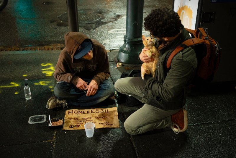 talking to the homeless
