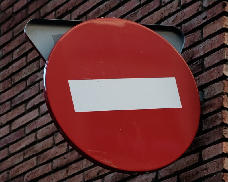 stop sign on the wall