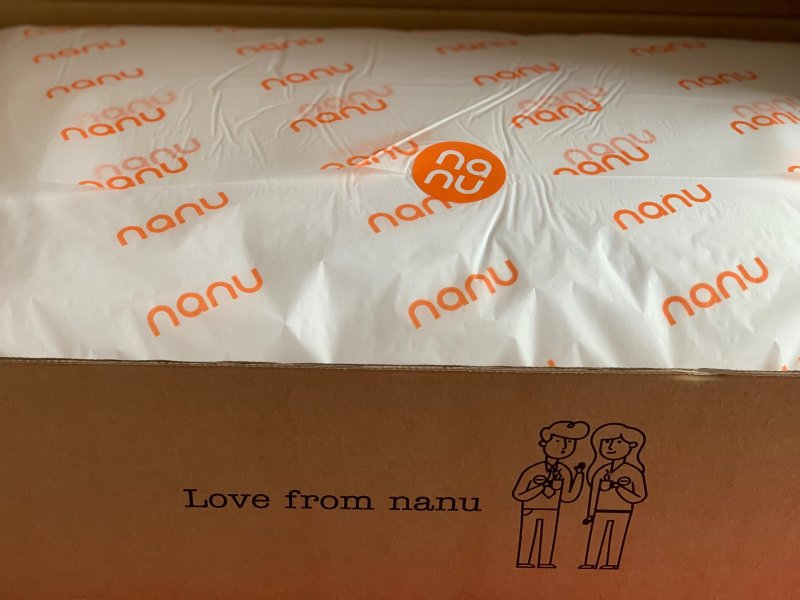 nanu environmentally friendly pillow and packaging