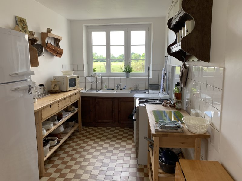 kitchen at Saint Germain Le Vieux France Air BnB