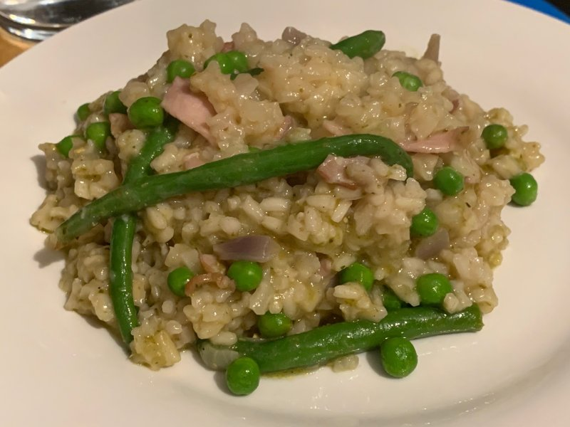 bacon and green bean risotto