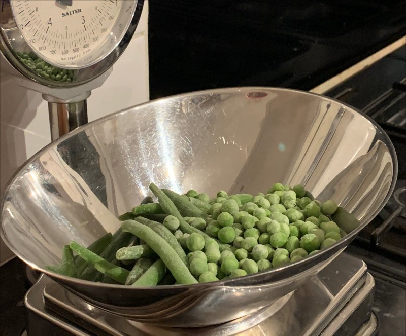 frozen peas and frozen beans