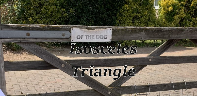 isosceles triangle gate
