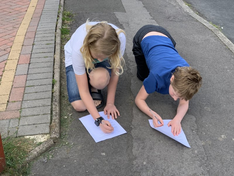 recording angles and triangles whilst out on a walk