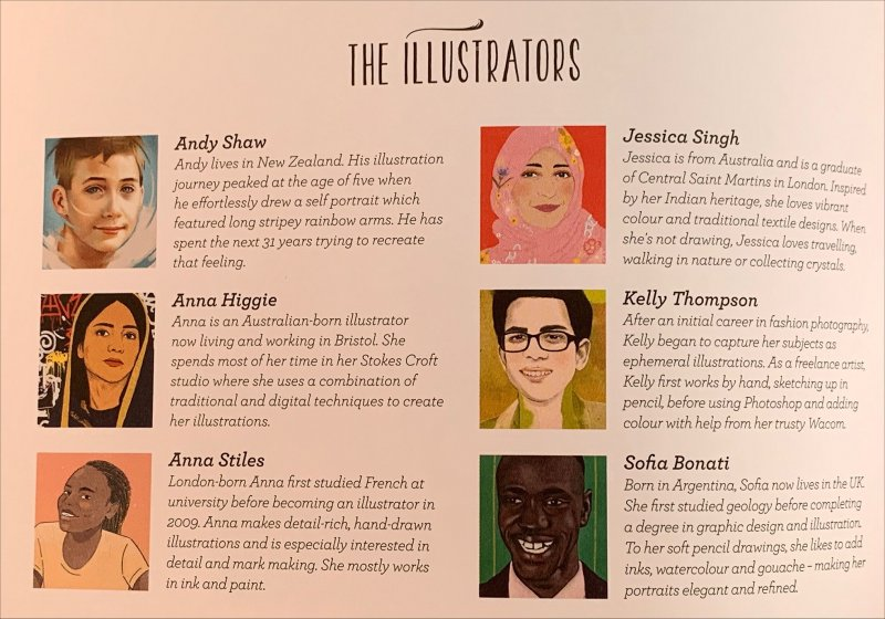 illustrators for Young, Fearless, Awesome - 25 Young People Who Changed the World
