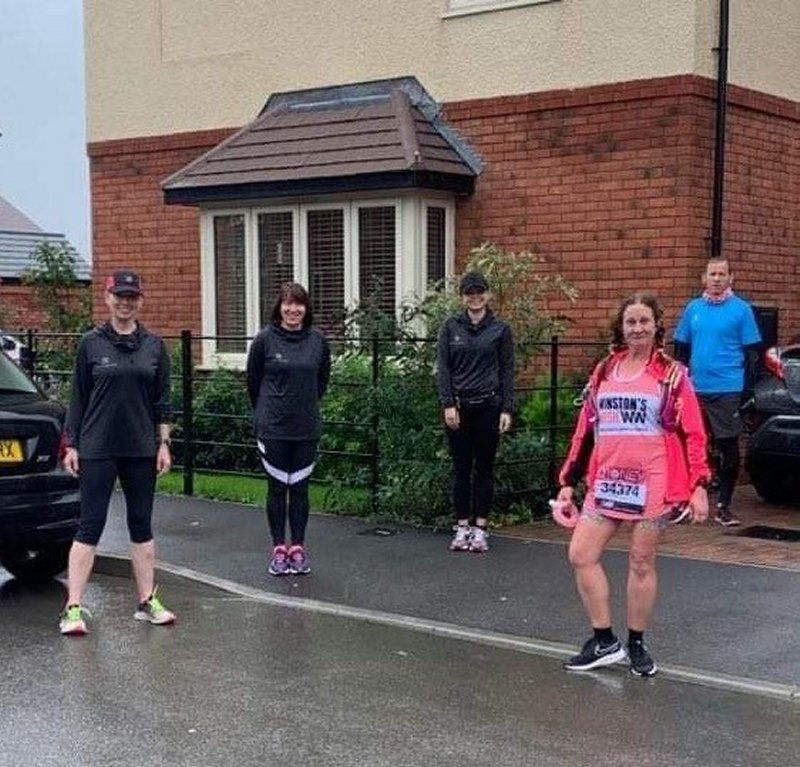 The Jolly Jeffers supporting a marathon