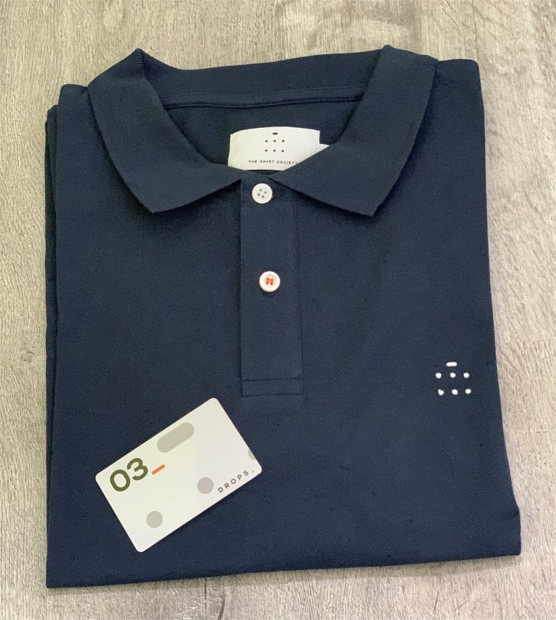 shirt subscription box blue polo shirt with gift card