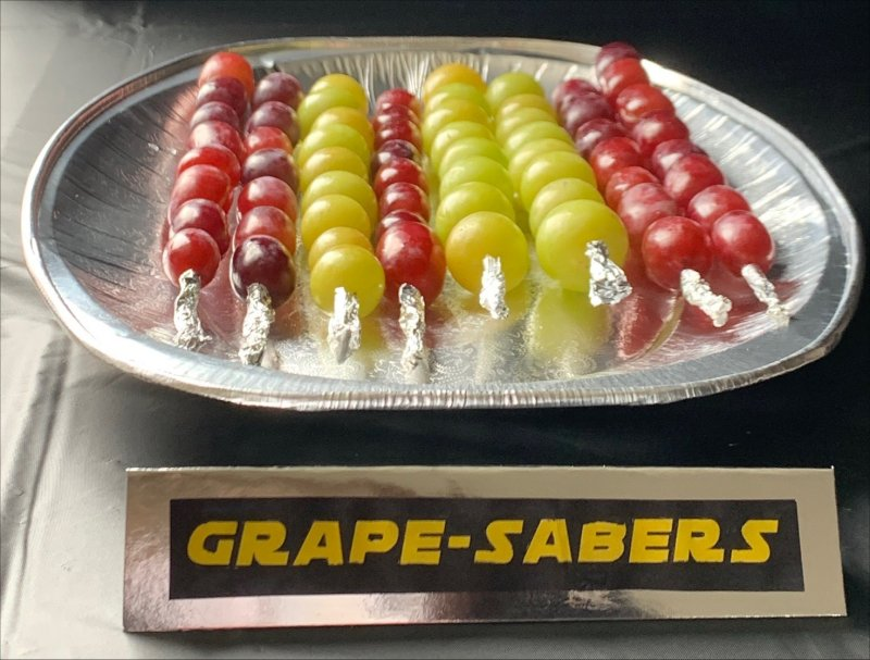 Grape Sabers - Star Wars party food ideas
