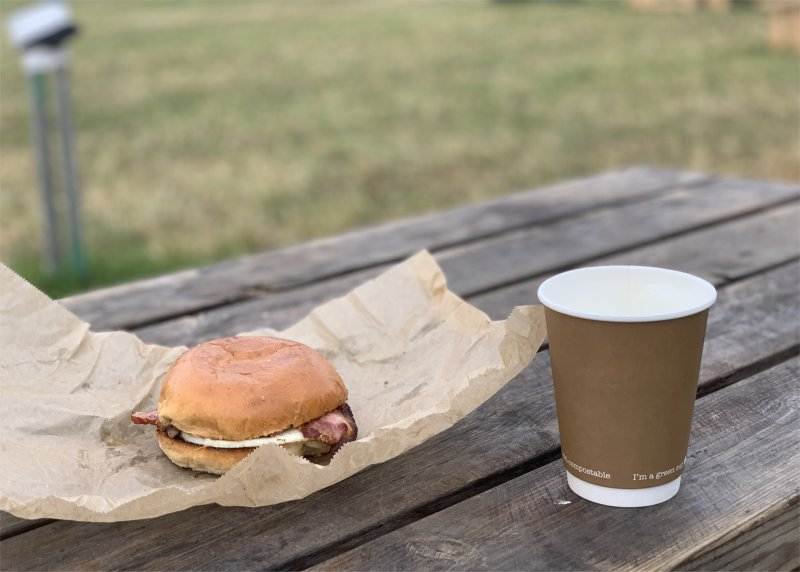 RunFestRun2021 food and drink stalls with much shorter queues than Carfest