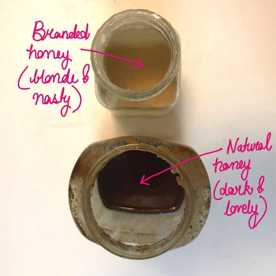 Natural honey versus adulterated honey