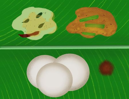 idli drawing