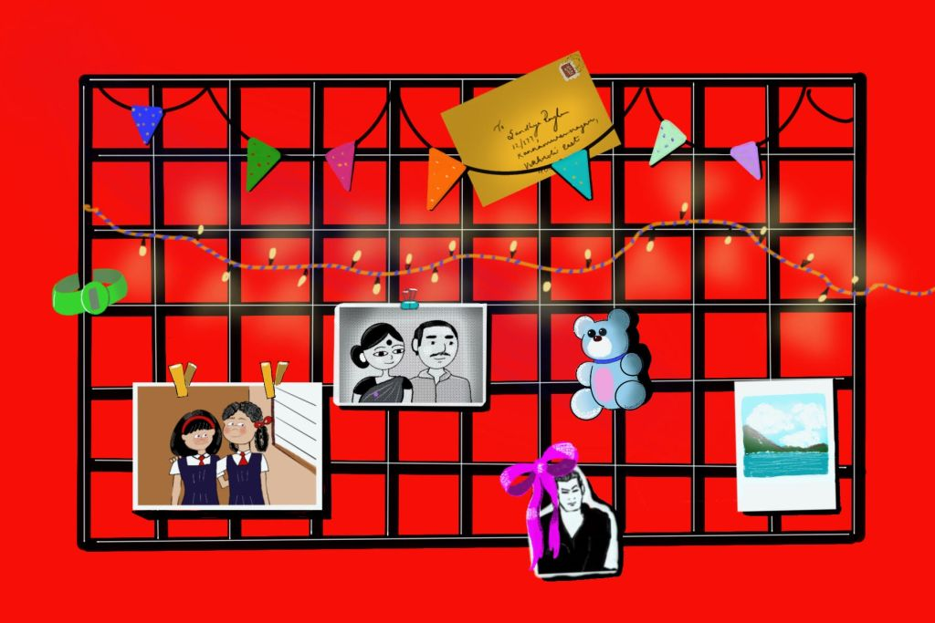 Mood board with pictures on it