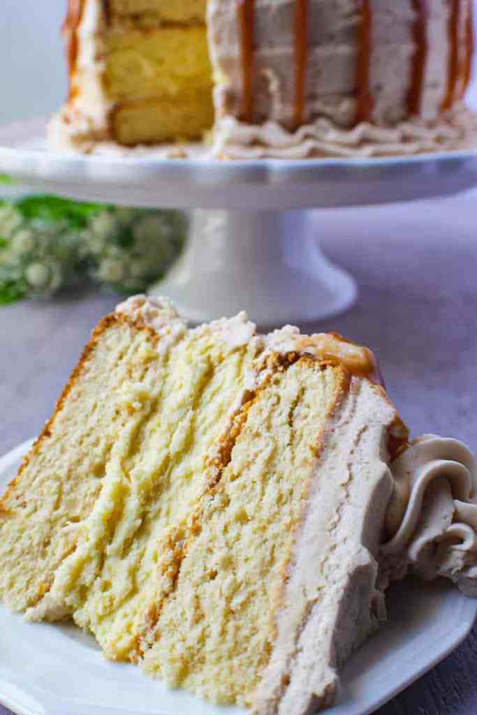 caramel cheesecake layer cake