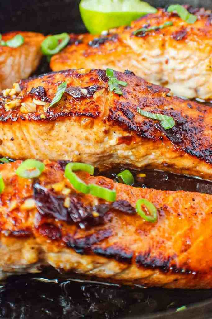 maple chipotle salmon