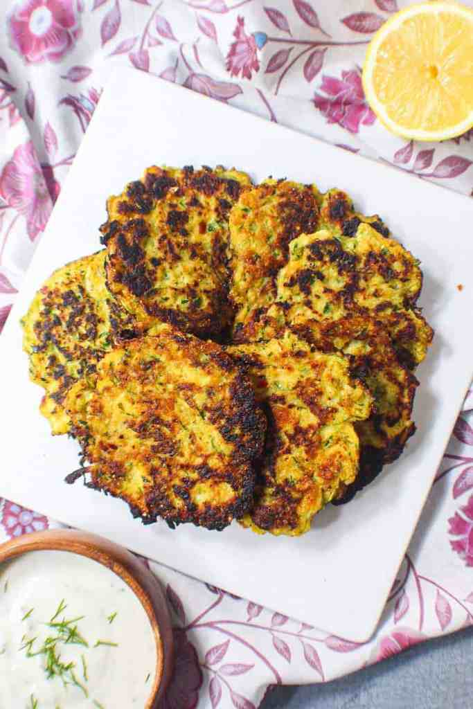 cornmeal zucchini fritters