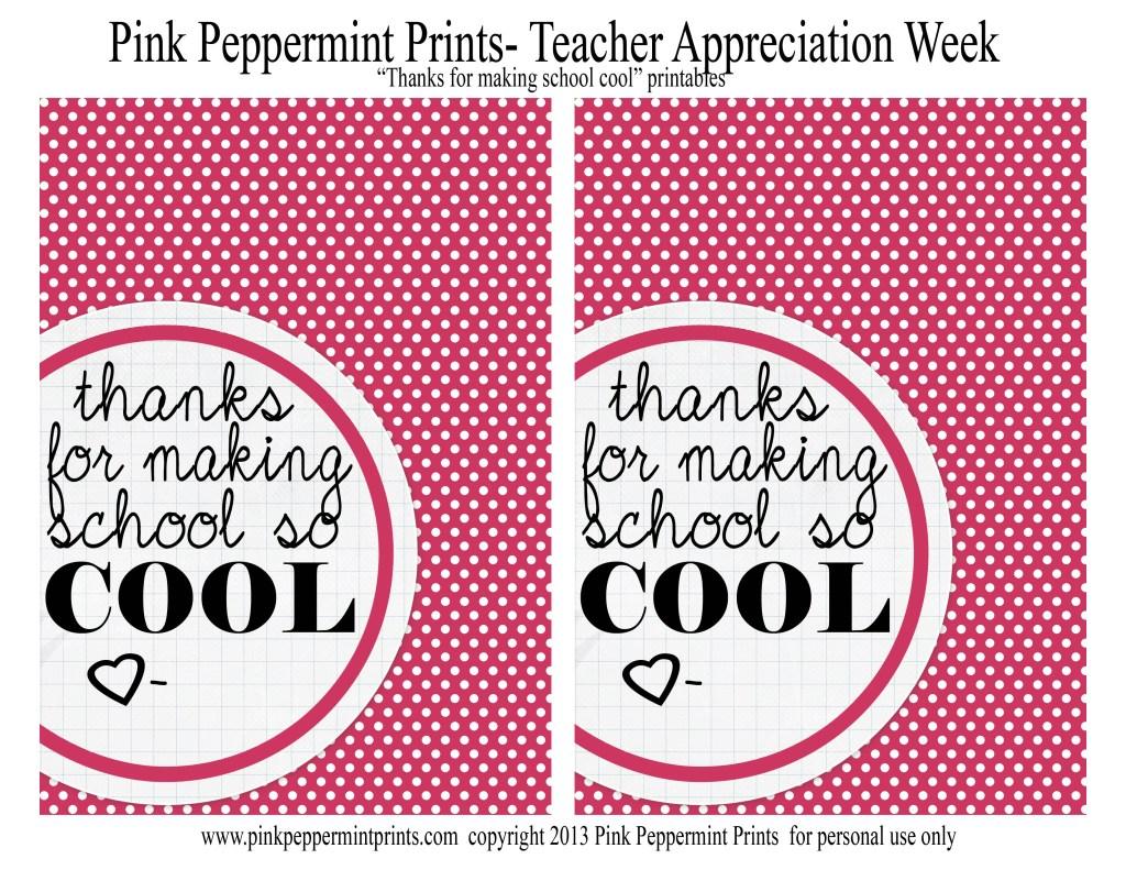 teacher appreciation Pink Peppermint Design