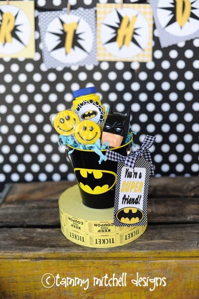 diy batman party favors