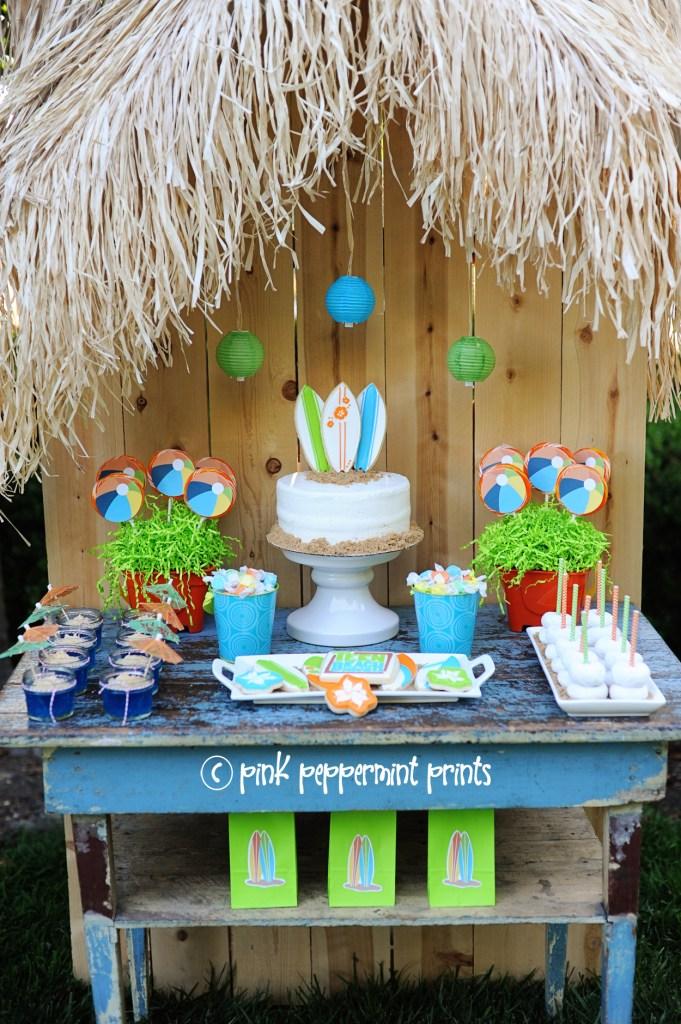 disney teen beach movie beach party ideas Pink Peppermint Design