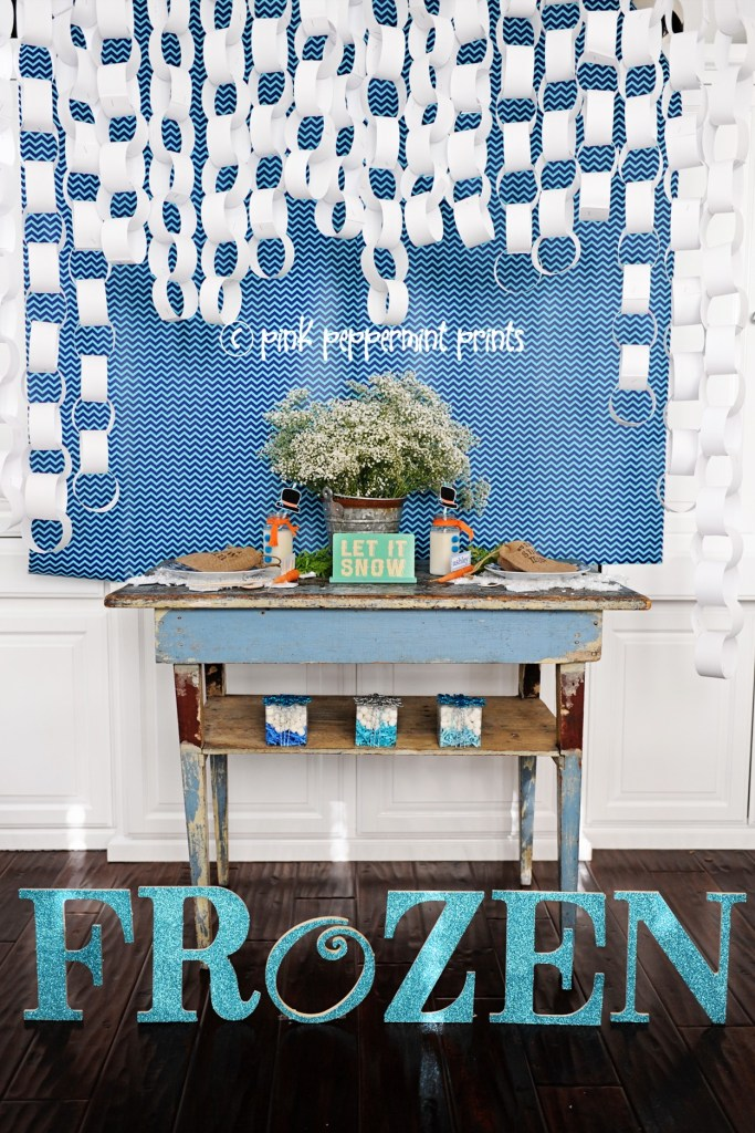 frozen birthday party decorations